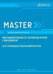 Master Electronique Instrumentation - Université du Littoral-Côte-d ...