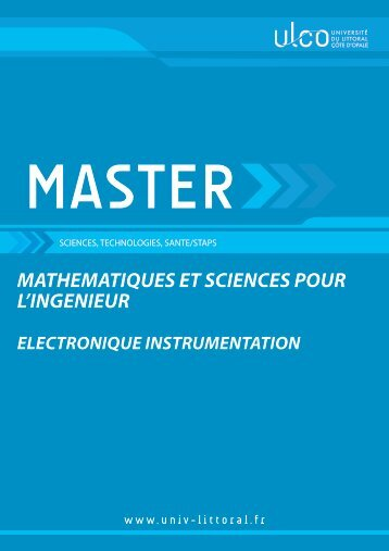 Master Electronique Instrumentation - Université du Littoral-Côte-d ...