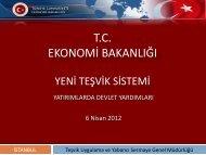 Yeni Teşvik Paketi 2012