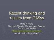 Research findings from the Offender Assessment System in England ...
