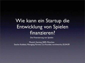 Wie kann ein Startup die Entwicklung von Spielen ... - Munich Gaming