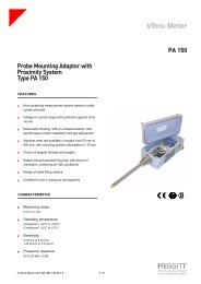 PA 150 Probe Mounting Adaptor with Proximity System ... - Vibro-Meter