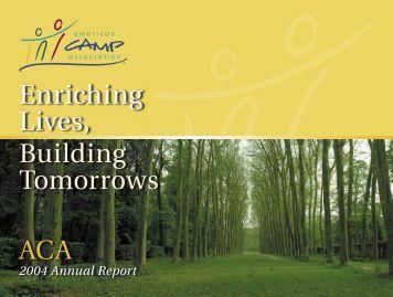 2004 ACA Annual Report v10.indd - American Camp Association