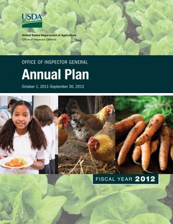 Annual Plan - US Department of Agriculture