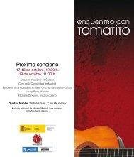 Encuentro con Tomatito - Orquesta y Coro Nacionales de España