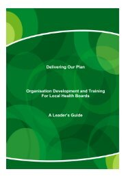 Delivering Our Plan Organisation Development ... - Health in Wales
