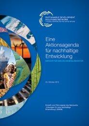 Eine Aktionsagenda für nachhaltige Entwicklung - Sustainable ...