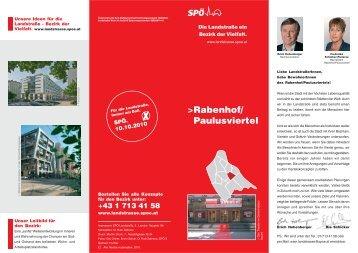 Rabenhof/ Paulusviertel - SPÖ Landstrasse