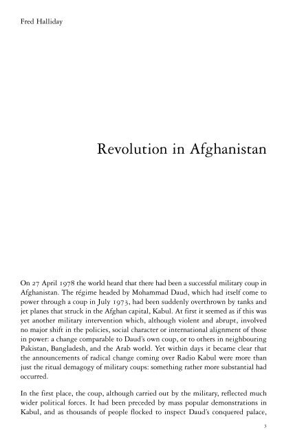 """Fred Halliday, """"Revolution in Afghanistan"""" - Platypus"""