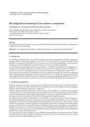 Reconfiguration dynamique d'un système à composants - Sardes ...