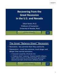 Recovering from the Great Recession in the U.S. and Nevada