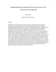 1 Managing globalization by managing Central and Eastern Europe ...