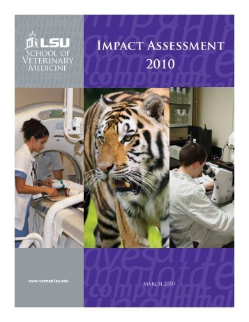 IMPAct ASSESSMENt 2010 - School of Veterinary Medicine ...