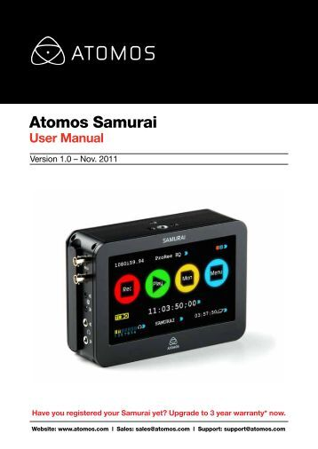 Atomos Ninja User Manual Englisch