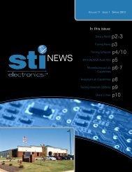 Volume 11 Issue 1 - STI Electronics, Inc.