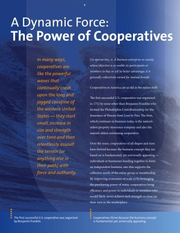 A Dynamic Force: The Power of Cooperatives - Unified Grocers