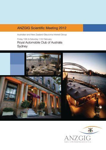 ANZGIG Scientific Meeting 2012