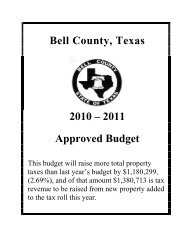 2010-2011 FY Annual Budget - Bell County