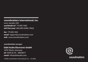 soundmatters international, inc.