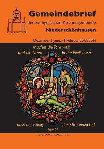 2013 Dezember – 2014 Januar – Februar - Friedenskirche ...