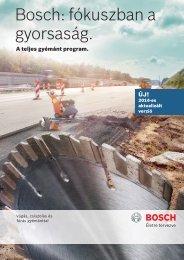 Bosch: fókuszban a gyorsaság.