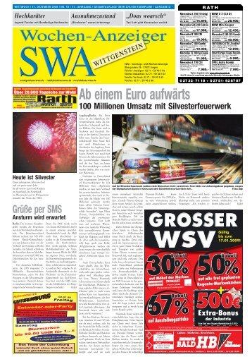 Ausgabe D, Wittgenstein (5.82 MB) - Siegerländer Wochen-Anzeiger