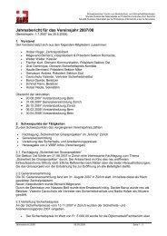Jahresbericht für das Vereinsjahr 2007/08 - VBSF