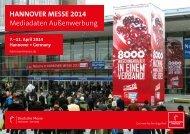 HANNOVER MESSE 2014 Mediadaten Außenwerbung - InPrint