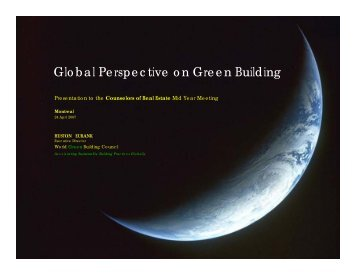 Global Perspective on Green Building - The Counselors of Real Estate