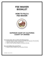 FEE WAIVER BOOKLET - Superior Court