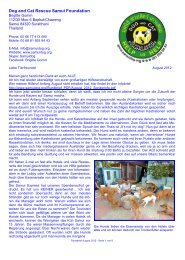 Rundbrief August 2012 - The Dog Rescue Center Samui