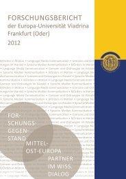 Forschungsbericht der EUV 2012 - Forschung und ...