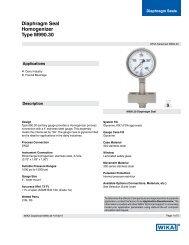 Diaphragm Seal Homogenizer Type M990.30 - WIKA