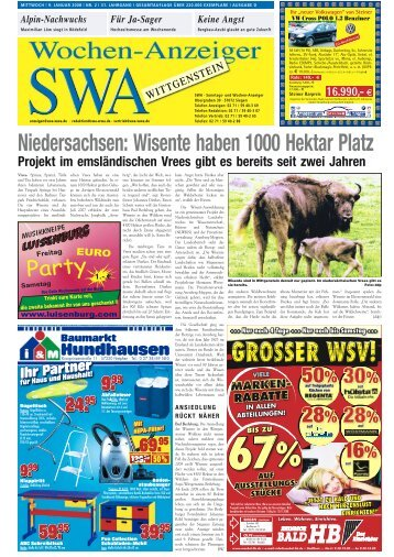 Ausgabe D, Wittgenstein (9.72 MB) - Siegerländer Wochen-Anzeiger