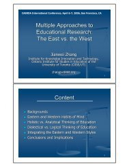 Multiple Approaches to Educational Research: The East vs. the West ...