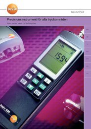testo 521-3 - Nordtec Instrument AB