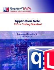 C/C++ Coding Standard - Quantum Leaps