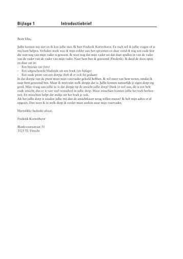 Bijlage 1 Introductiebrief - Kunst Centraal