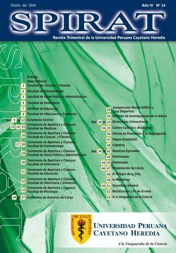 Revista Trimestral de la Universidad Peruana Cayetano ... - UPCH