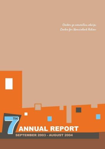 7th ANNUAL REPORT (2004) - Centre for Nonviolent Action