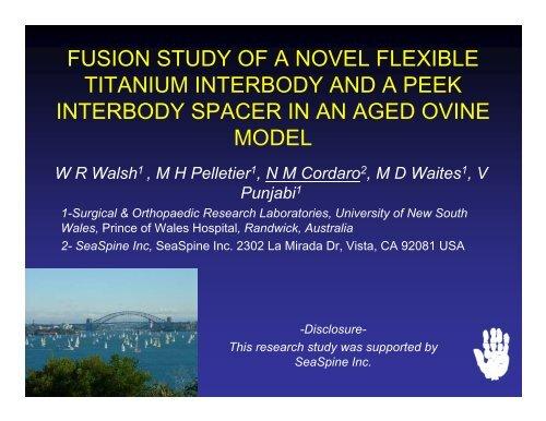 fusion study of a novel flexible titanium interbody and a