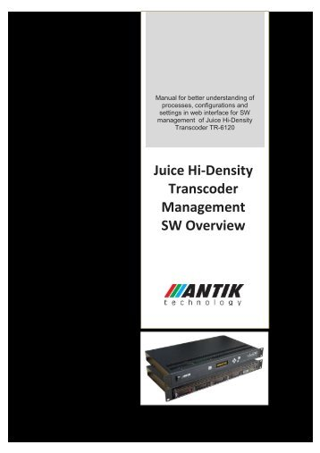 User Manual - Antik Technology