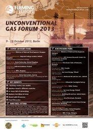 UNCONVENTIONAL GAS FORUM 2013 - Petroleumclub.ro