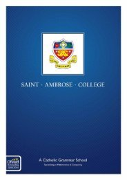 here - St Ambrose College