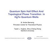 Quantum Spin Hall Effect and Topological Phase Transition in HgTe ...