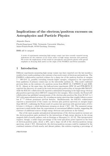 Implications of the electron/positron excesses on Astrophysics and ...