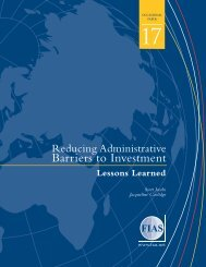 Reducing Administrative Barriers to Investment - Investment Climate
