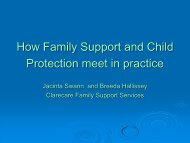 How family support and child protection meet in practice