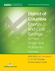 District of Columbia - Building Energy Codes