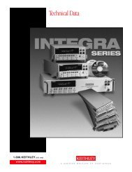 Integra Series Technical Data Sheet - Keithley Instruments